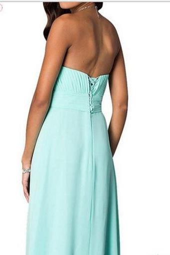 Cheap Sweet long Bridesmaid Dresses, A Line Sample Party Gowns ,Wedding Girls Gowns ,Cheap Women Gowns For Party , cheap prom dresses