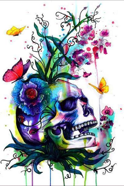Size 30 x 30 cm 5 D Diy Diamond Painting SKULL For Halloween Full Rhinestones Cross Stitch 5D Mosaic Diamond Embroidery Home Decoration.Special Diamond Embroidery Paintings
