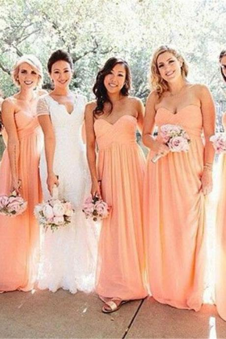 Long Party Bridesmaid Gowns ,Coral Bridesmaid Dresses,Country Bridesmaids Dresses,Cheap Bridesmaid Dresses Long,Wedding Guest Dress