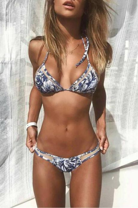 Floral Printing Bikini , Fashion Sexy Swimwear, Cheap Girls Swimsuits Two Pieces