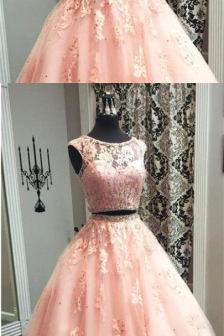 Shiny Two Pieces Long Prom Dress Off Shoulder Lace Women Prom Gowns , Off Shoulder Wedding Party Gowns .A Line Party Gowns