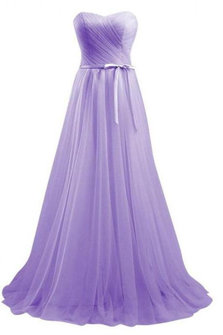 Hot Sale Sexy Lavender Tulle Bridesmaid Dresses Off Shoulder Women Party Gowns Plus Size fashion Maid Of Honor Gowns .