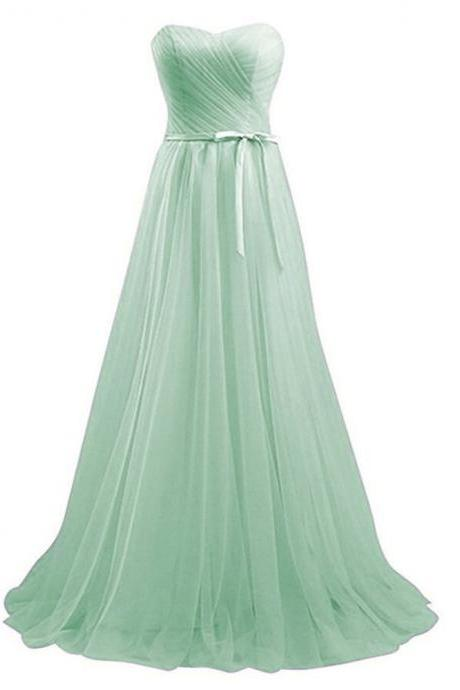 Off Shoulder Mint Green Long Party Gowns ,Wedding Bridesmaid Dresses,Wedding Women Party Gowns , A Line Party gowns