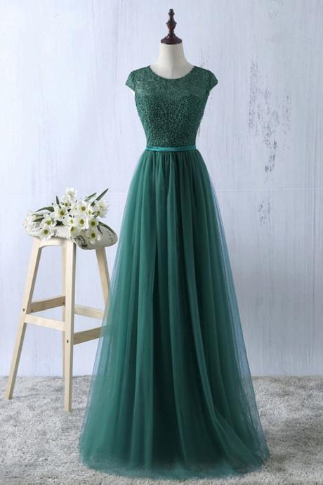 Sexy A Line Dark Blue Chiffon Long Prom Dresses With Beaded Fashion Women Party Gowns