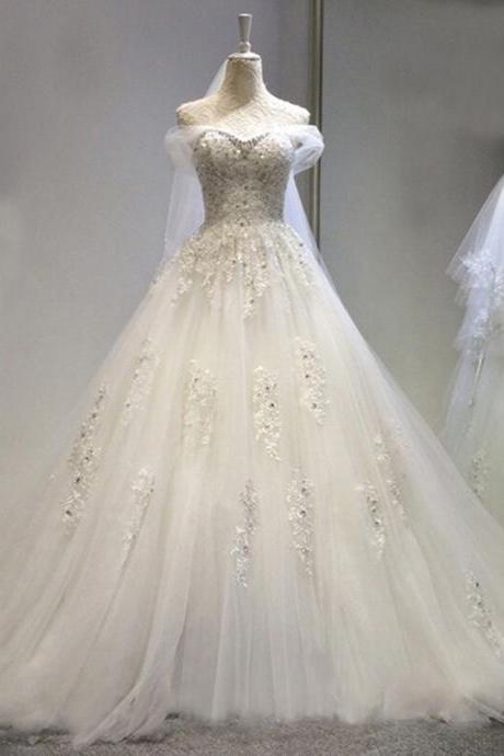 New Arrival Sweet Lace China Wedding Dress Beaded Tulle Women Bridal Gowns A Line Wedding Gowns Custom made