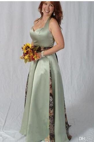Vintage Halter Camo Wedding Dress A Line Women Bridal Gowns High Qulaity ,Cheap Wedding Gowns
