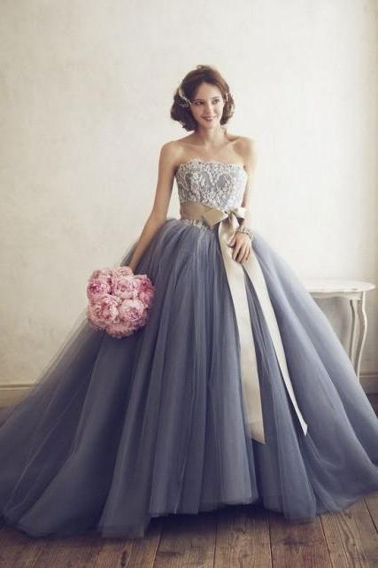 Plus Size Tulle Wedding Dress Ball Gown 2019 Sexy Lace Bridal Gowns Custom Made Weddings Dress With Bow