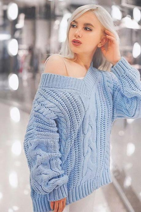 Women Autumn Sweather Long Sleeve Sweater Pullover Knit Sweater,Boycon Sweater ,Long Sleeve Sweater Knitted Winter Jumper,,loose Sweater