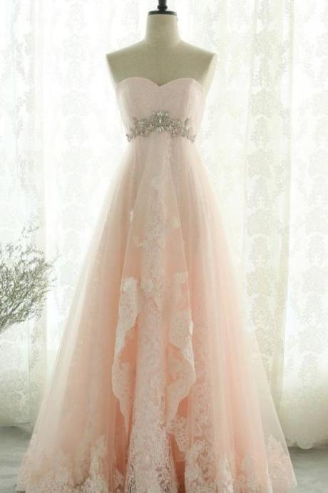 Fashion Off the Shoulder Pink Tulle Lace Prom Dress A Line Women Evening Party Dresses Custom Made Prom Gowns