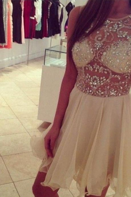 Off the Shoulder Beaded Homecoming Dress, Short Prom Dress, Custom Made Prom Gowns ,Short Evening Dress