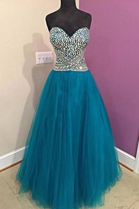 Luxury Crystal Sweet 16 Prom Dress Off the Shoulder Long Prom Gowns A Line Wedding Quinceanera Dress