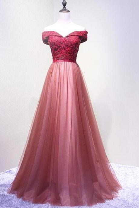 Sweet 16 Prom Dress A Line Lace Appliqued Evening Dress, Plus Size Wedding Party Gowns