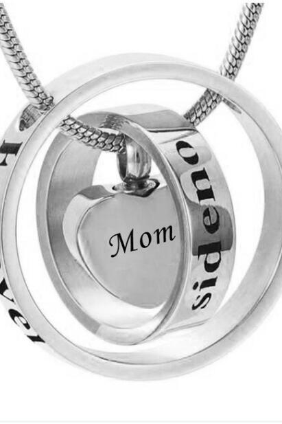 Custom personality is different to call the ring heart urn funeral pyre funeral pyre necklace fashion jewelry pendant For Mom