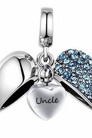 Unique call heart urn funeral ashes Uncle cremation necklace fashion jewelry accessorues
