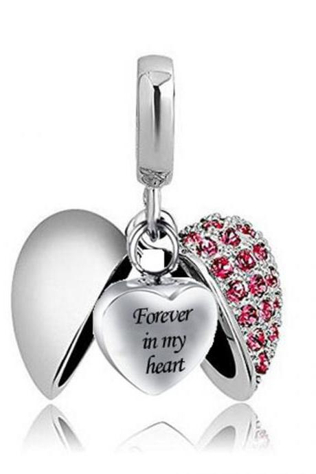 Cremation Jewelry Waterproof Forever In My Heart ' Heart Urn Pendant Memorial Ash Keepsake Necklace Bone Box