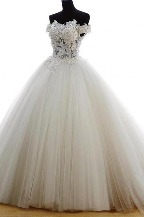 Elegant Plus Size Lace Ball Gown China Wedding Dress Custom Made Appliqued Wedding Gowns .