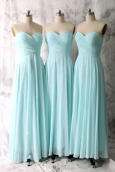 Plus Size Bady Blue Chiffon Long Bridesmaid Dress Custom Made Long Women Party Gowns A Line Women Party Gowns