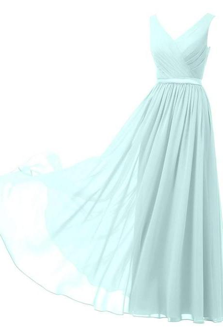 Sexy Beaded V-Neck Tulle Long Prom Dress 2019 Formal Evening Dress With High Split Women Prom Dresses Mint Green