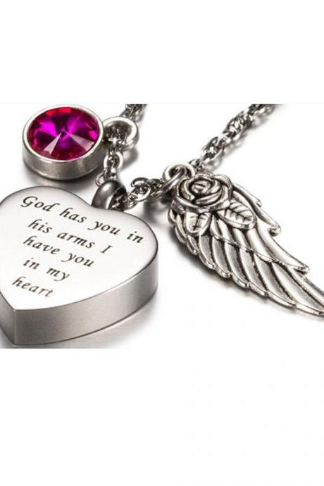 Fashion Silver Cremation Urns Necklace ashes holder memorial jewelry keepsakes funeral accessories