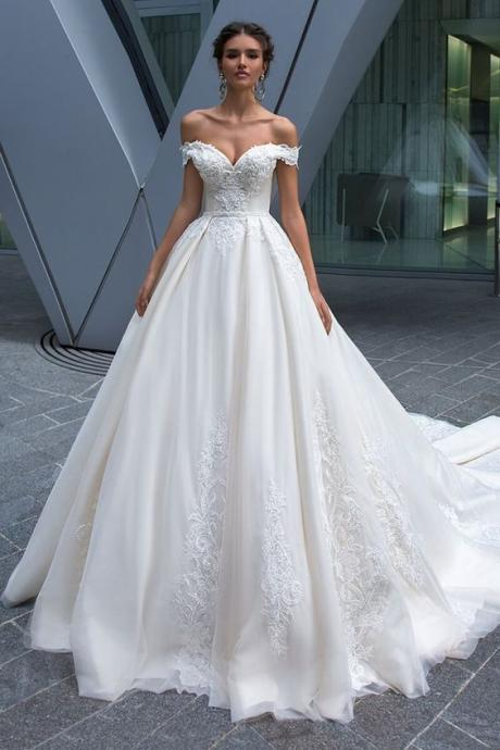 Sexy Custom Made Wedding Dress A Line Women Wedding Gowns ,Plus Size Cheap Women Bridal resses 2019