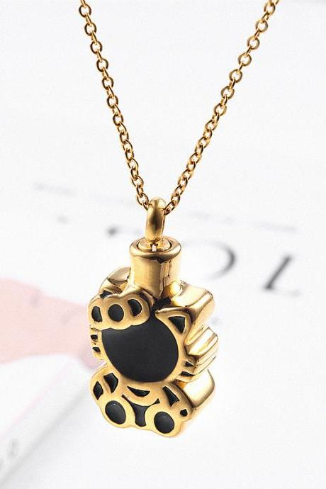 Bullet Pendant Fragrance Bottle Locket Lord's Prayer Cross Necklace for Christian cremation ash necklace keepsake urn memorial jewelry Hello Kity