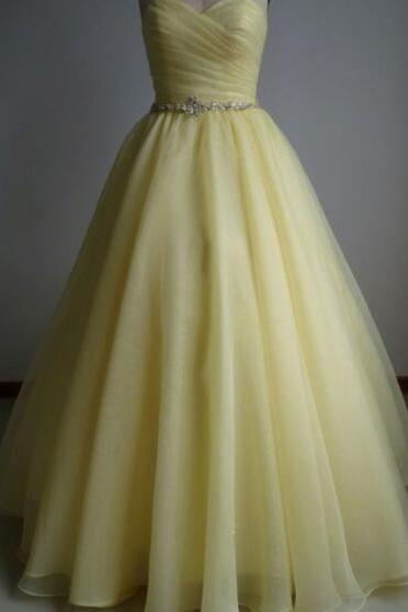 Off Shoulder Yellow Sweetheart Ruffle A Line Long Prom Dress, Sweet 15 Prom Party Gowns ,Long Quinceanera Dress