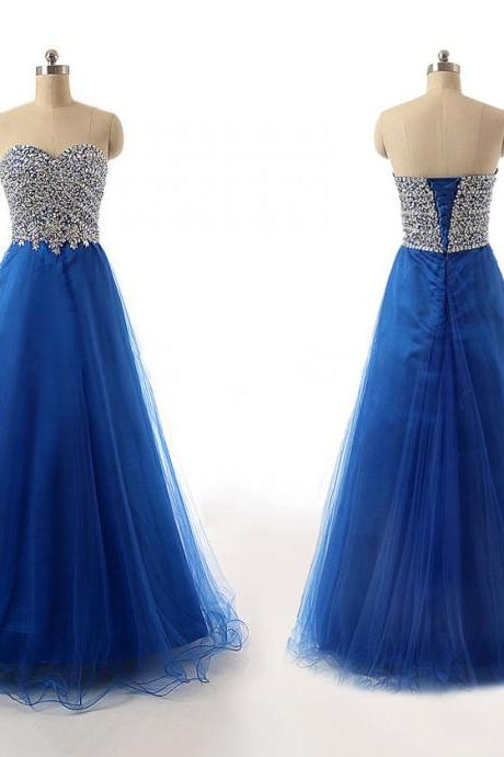 Charming Beaded A Line Formal Evening Dress Off The Shoulder Women Pageant Gowns ,Long Prom Dress 2019