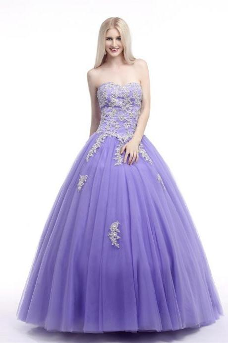 New Arrival Custom Made Quinceanera Dress 2019 Sweetheart Tulle Floor-Length Applique Ball Gown Vestidos De 15 Anos