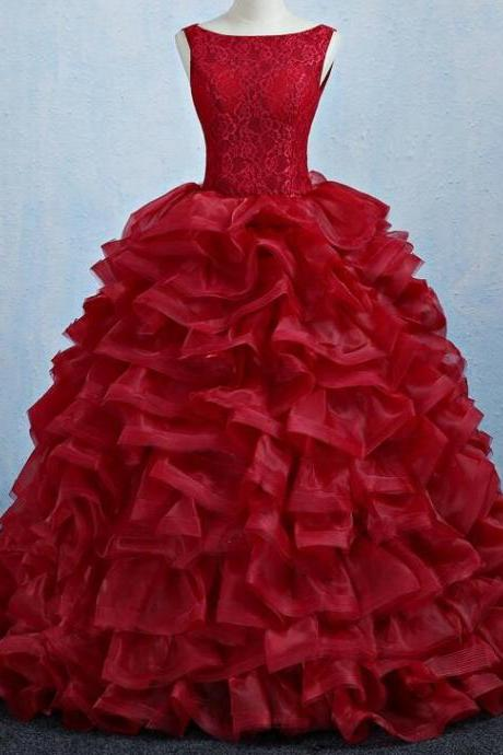 Off Shoulder Burgundy Lace Long Quinceanera Dress Sweet 16 Prom Gowns Custom Made Ball Gown Quinceanera Dresses