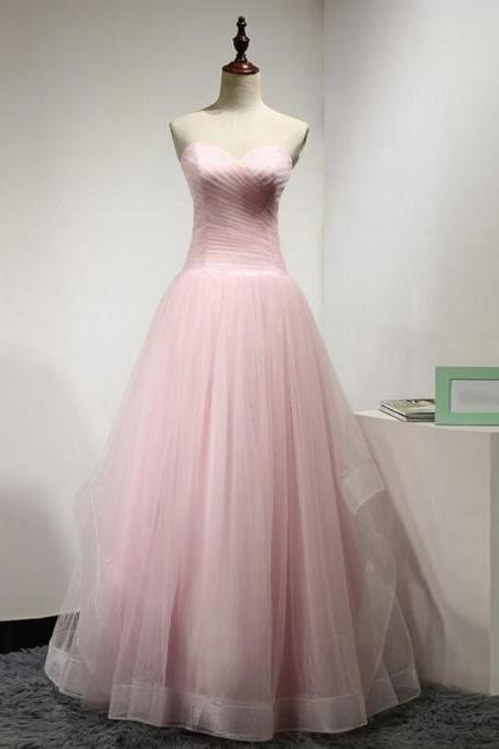 nEW Arrival Pink Tulle Long Prom Dress A Line Sweetheart Women Party Gowns , Wedding Women Party Gowns 2020