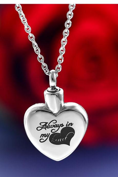 Stainless Steel Cremation Necklace Pendant Ashes Keepsake Memorial Jewelry Cheap urn memorial jewelry
