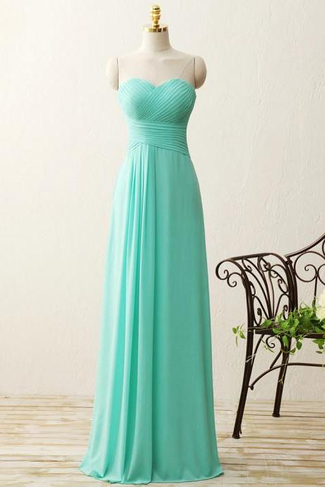 Cheap Mint Green Chiffon Ruched Long Bridesmaid Dress Off Shoulder Maid Of Honor Gowns Custom Made Prom Party Gowns 2020