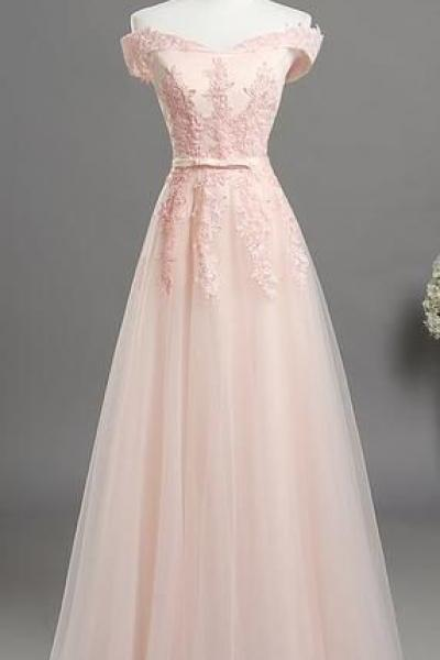 New Arrival Lace Tulle Prom Dress A Line Strapless Women Party Gowns , Formal Evening Dress.