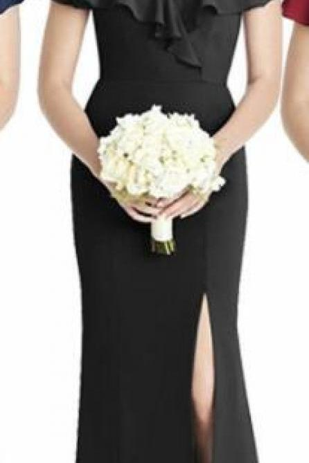 Simple Black Long Bridesmaid Dresses Mermaid ,Cheap Wedding Guest Gowns ,Maid Of Honor Gowns ,Prom Dresses 2020