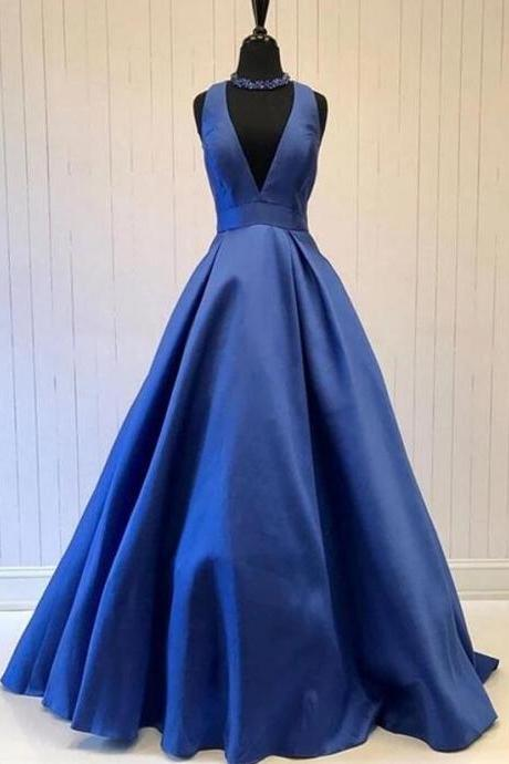 Cheap Backless A Line Long Prom Dresses Custom Made Women Party Gowns ,Custom Made Evening Party Gowns