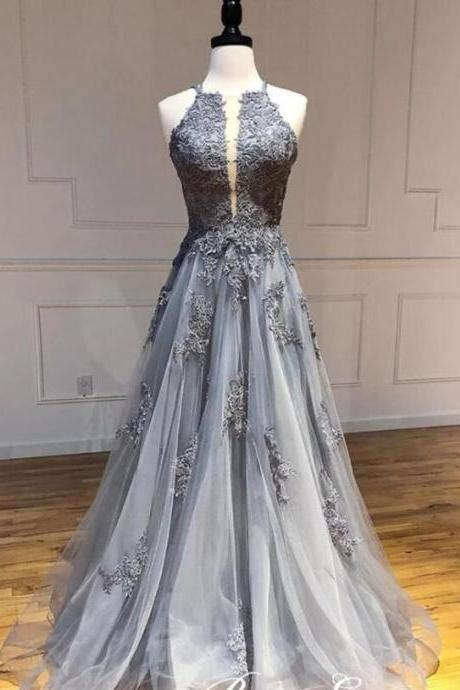 Cheap Lace A Line Long Evening Dresses Custom Made Women Gowns Stapless Prom Party gOWNS
