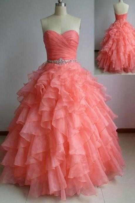New Arrival Organza A Line Quinceanera Dresses Custom Made Women Party Gowns Beaded,Sweet 16 Prom Gowns 2020