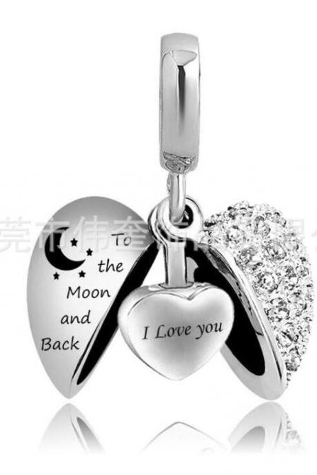 Unique call heart urn funeral ashes Grandma cremation necklace fashion jewelry accessorues