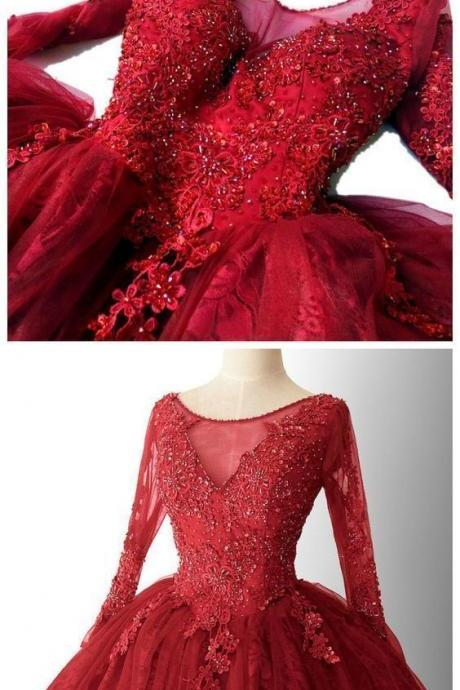Red Tulle Lace Short Homecoming Dresses With Long Sleeve Beaded Girls Party Gowns Custom Made MINI Prom Party Gowns