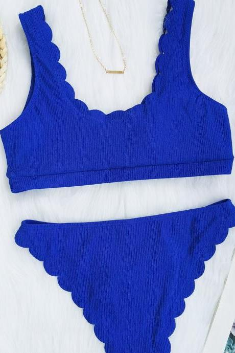 Mini Bikini 2021 Swimwear Women Halter Push Up Bikini Set Padded Bra Sexy Swimsuit Hot Bandage Swim Suit Brazilian Biquini,Cheap Summer Bikini Royal Blue