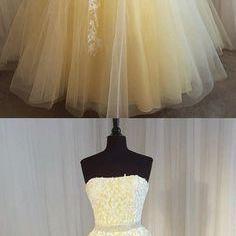 Charming Prom Dress, Long Prom Dresses, Sexy Strapless Tulle Homecoming Dress,Chic Prom Dress Evening Gowns ,2018 Short Homecoming Dresses, Graduation Gowns mini