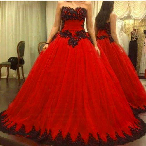 Sexy Red Quinceanera Dresses Formal Prom Sweet 16 Dress Wedding Party Gowns,Modest Wedding Party Dresses,Plus Size Women Gowns