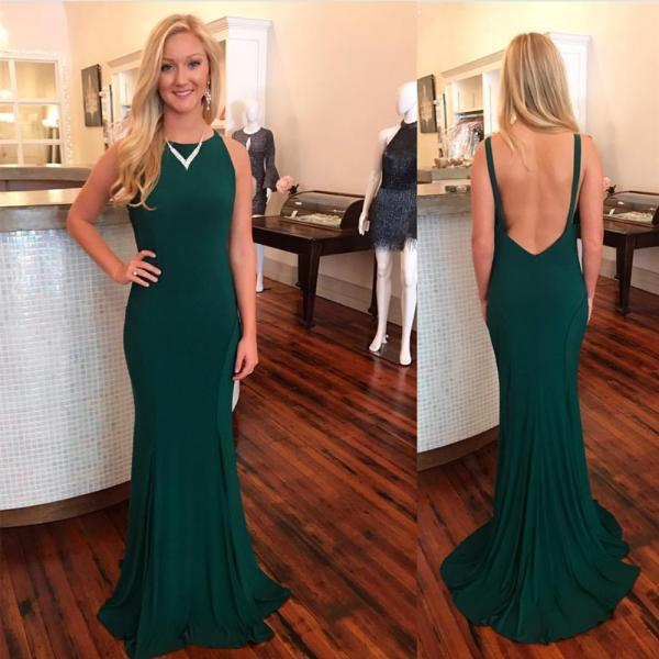 dark green prom dress,mermaid evening dress,sexy backless prom dresses2018 Plus Size Wedding Women Party Gowns ,Girls Party Gowns ,Mermaid Evening Dresses,Sexy Backless Wedding Party Gowns
