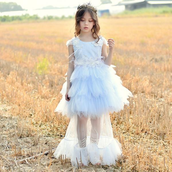 New Arrival Flower Girls Dresses,Two Pieces Wedding Girls Gowns , Light Blue Tulle Girls Gowns ,Pricess Flower Girls Dresses, Flower Girls Dresses, Girls Pageant Gowns , Newly Cute Wedding Flower Gowns