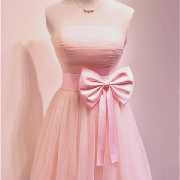 New Arrival Light Pink Ruched Short Homecoming Dress, Short Prom Gowns , Short Cocktail Gowns