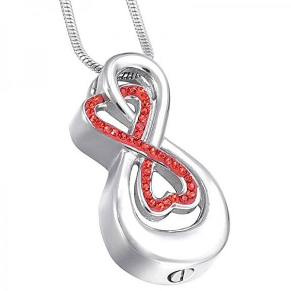 Stainless Steel Memorial Ashes Urn Necklace With Chain Funnel Love Heart Cremation Jewelry