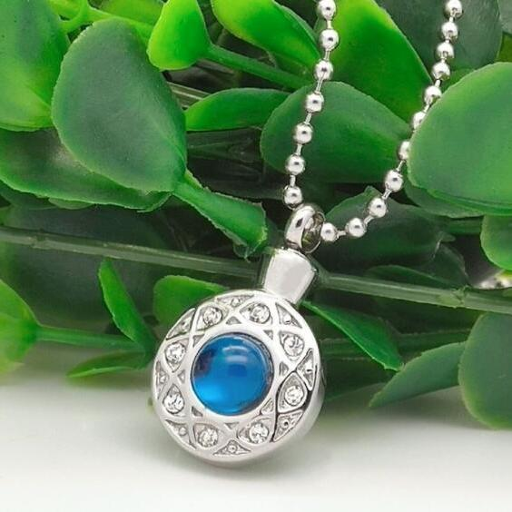 fashion round memorial jewelry cremation ash necklace funeral accessories urns 2019