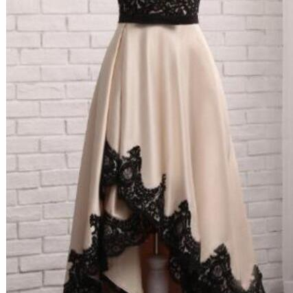 Stunning A Line Black Lace Sheer Long Prom Dresses Plus Size Formal Evening Dress,Women Gowns ,Formal Dress