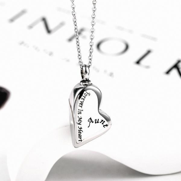 Stainless Steel Cremation Necklace Pendant Ashes Keepsake Memorial Jewelry Cheap urn memorial jewelry For Aunt