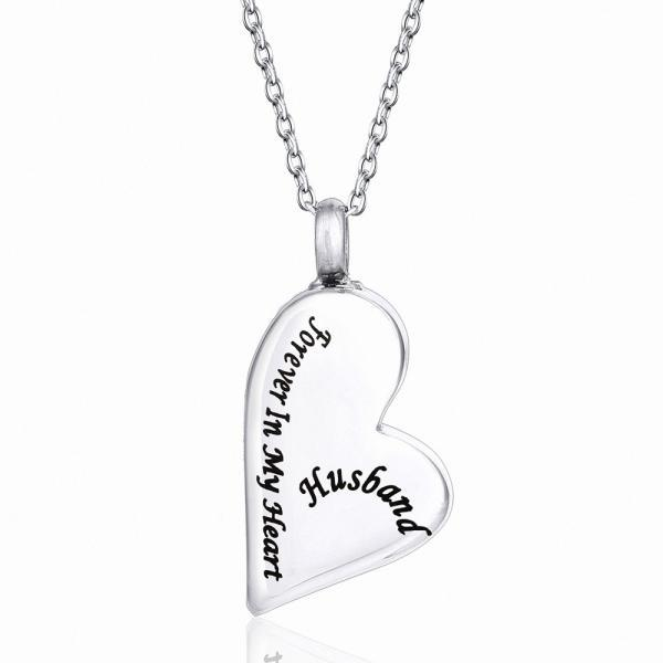 Stainless Steel Cremation Necklace Pendant Ashes Keepsake Memorial Jewelry Cheap urn memorial jewelry For Husband
